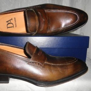 DAVID AUGUST Antique Brown Leather Loafers US 10